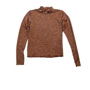 Billabong small long sleeve stretchy shirt, bronze